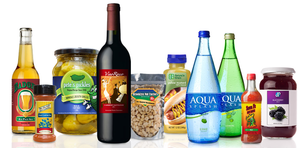 Shop By Product - Food and Beverage | New Dimension Labels: www.newdimensionlabels.com/shop-by-market/food-and-beverage