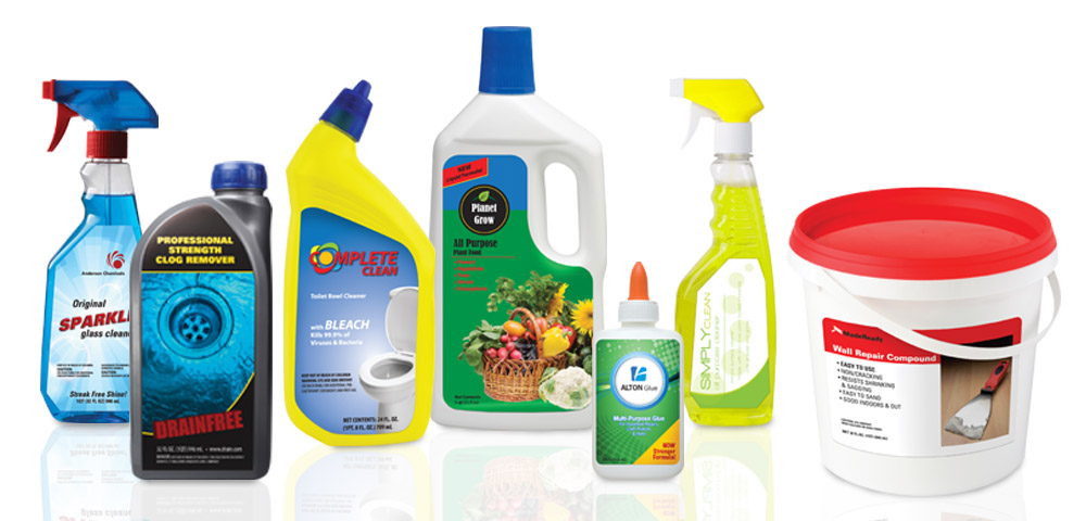 Household Chemicals New Dimension Labels